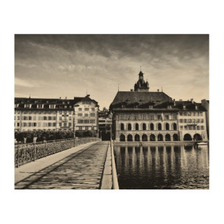 Old town lucerne switzerland photography wood wall holzwanddeko