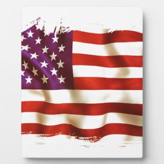 Old USA flag Fotoplatte