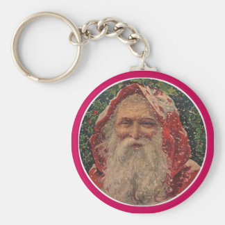 Olde Sankt Nikolaus Standard Runder Schlüsselanhänger