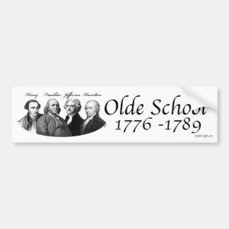Olde Schule Autoaufkleber
