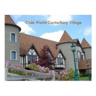 Olde Weltcanterbury-Dorf-Postkarte 2 Postkarte
