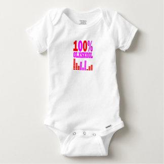 oldskool 100% 123 baby strampler