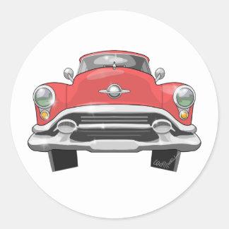 Oldsmobile 1953 runder aufkleber