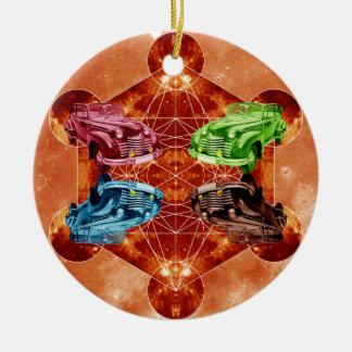 Oldsmobile-Mond Keramik Ornament