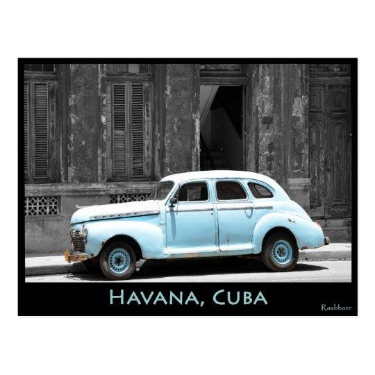 OLDTIMER IN HAVANA POSTKARTE