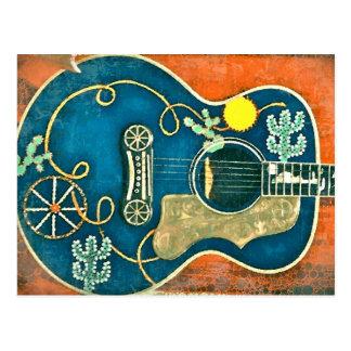 Ole Western-Gitarren-Postkarte Postkarte