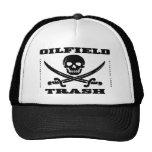 Ölfeld-Abfall-Hut, Totenkopf mit gekreuzter Knoche Baseball Caps