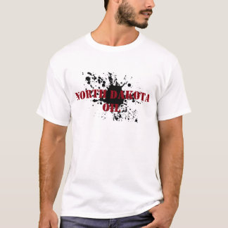Ölfeld-Shirt-North- Dakotaöl-Schablone-Fleck T-Shirt