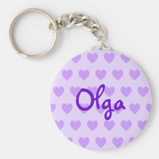 Olga in Lila Schlüsselanhänger