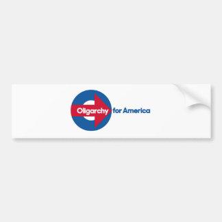 Oligarchie für Amerika Autoaufkleber