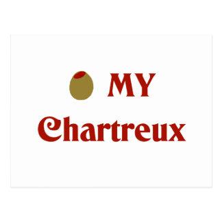 Olive (i-Liebe) mein Chartreux Postkarte