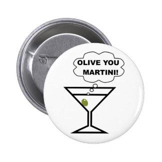 Olive Sie Martini Runder Button 5,1 Cm