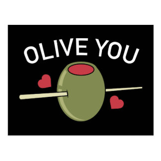Olive Sie Postkarte
