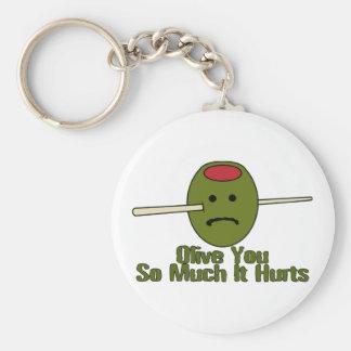 Olive Sie soviel Schlüsselanhänger