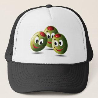 Oliven gefüllt mit Lächeln Truckerkappe