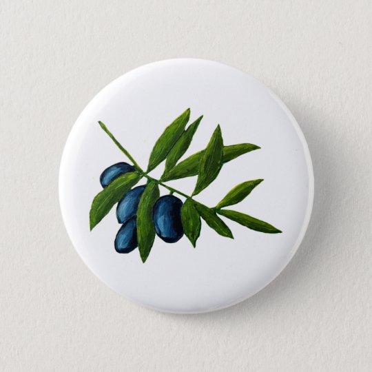 Oliven Runder Button 5,7 Cm