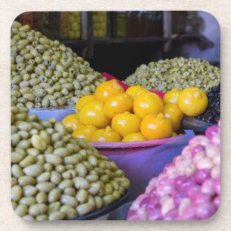 Oliven und Zitrone am Markt Untersetzer