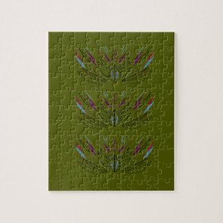 Oliven-Vintages Entwurf ethno Puzzle