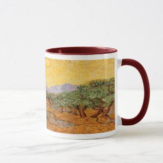 Olivenbäume, gelber Himmel und Sun, Vincent van Tasse