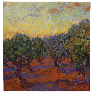 Olivenbäume - Vincent van Gogh Stoffserviette