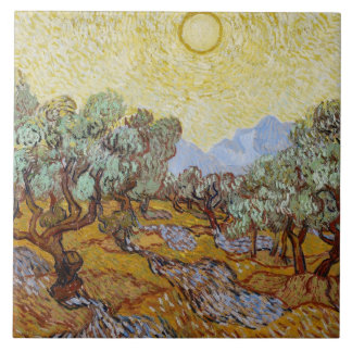 Olivenbäume Vincent van Goghs |, 1889 Fliese