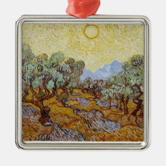 Olivenbäume Vincent van Goghs |, 1889 Silbernes Ornament