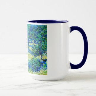 Olivenhain durch Vincent van Gogh Tasse