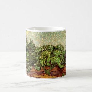 Olivenhain-hellblauer Himmel Van Gogh, schöne Kaffeetasse