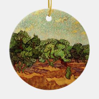 Olivenhain-hellblauer Himmel Van Gogh, schöne Keramik Ornament