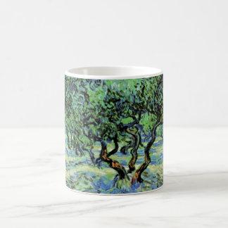 Olivenhain Van Gogh, Vintage Baum-feine Kunst Kaffeetasse