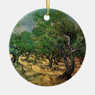 Olivenhain Van Gogh, Vintage Landschaftsfeine Keramik Ornament