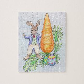Oliver-Häschen mit Karotten-Puzzlespiel Puzzle