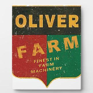 Oliver-Landwirtschaft Fotoplatte