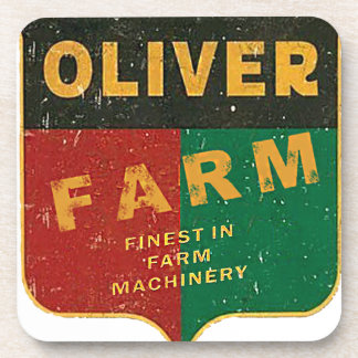 Oliver-Landwirtschaft Getränkeuntersetzer