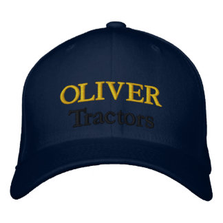 Oliver-Traktor-Rasenmäher-Mäher-heiserer Entwurf Bestickte Baseballmützen