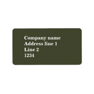 Olivgrün Adressaufkleber
