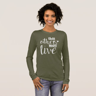 "Olivgrün ""diese andere kann leben"" FRAUEN ' Langarm T-Shirt"