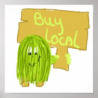 Olivgrün-Kauf-Einheimisches Plakate