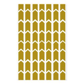 Olivgrün-Platten-Zaun Briefpapier