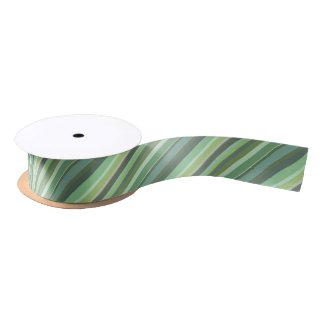 Olivgründiagonalstreifen Satinband