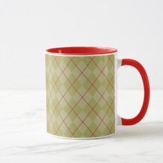 Olivgrüne Feiertags-Tasse Tasse