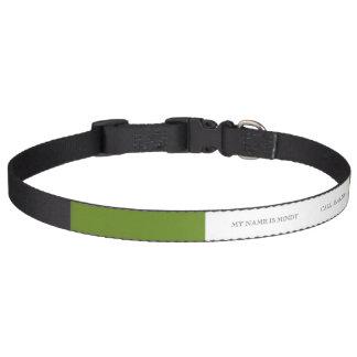 Olivgrüne graubraune Spitzendesigner-Farbe Haustierhalsband
