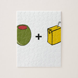Olivgrüne Liebe des Saft-I Sie Puzzle