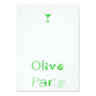 Olivgrüne Partei oops, das ist Cocktail-(!) Party 12,7 X 17,8 Cm Einladungskarte