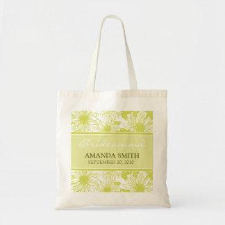 Olivgrüne Sonnenblume-personalisierte Tragetasche