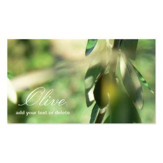 Olivgrüne Visitenkarte