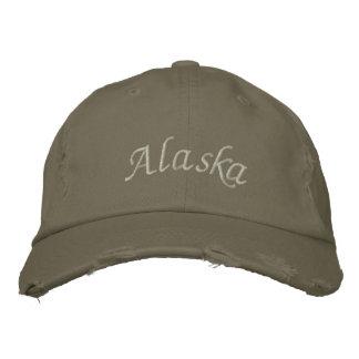 Olivgrüner Alaska gestickter Hut