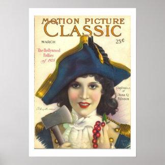 Olivgrüner Film-Titelseiten-Druck Bordens Vintager Poster