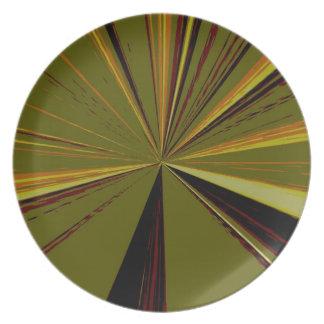 Olivgrüner Fluchtpunkt-großer Teller