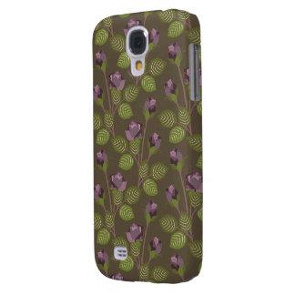Olivgrüner hübscher lila klarer starker Kasten der Galaxy S4 Hülle